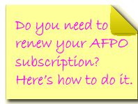 Ways to pay AFPO